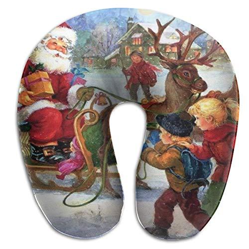 Almohada en Forma de U, Cuello, casa navideña, Viaje, Almohada Multifuncional, Coche, avión