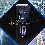 WIE Weinkühlschrank 32 Liter 12 Flaschen Freistehend 10-18 °C Touch digital Temperatureinstellung LED-Innenraumbeleuchtung - 6