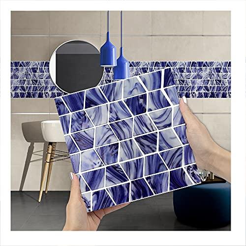 JAXU CWN 'ART A2 3D Pegatinas de Azulejos de Bricolaje, Pegatinas de Pared de PVC Impermeables, decoración para la decoración del Dormitorio de la Cocina, Cada Paquete de 10 Piezas