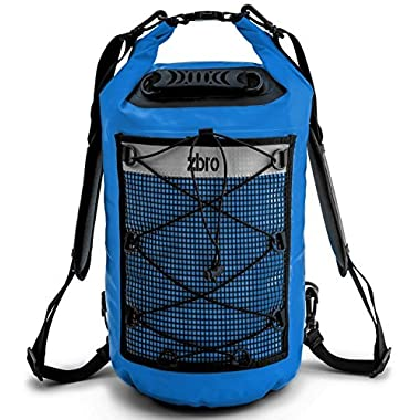 Waterproof Dry Bag with 2 Pockets, Padded Straps and Reflective Stripe