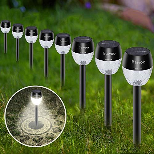 Jadin Sol LED-Solarleuchte für den Außenbereich Bawoo Wireless Decoration 8-teilige wasserdichte Taschenlampen Solarleuchten für den Außenbereich für Rasenwege - Cool White