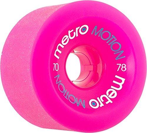 Metro Motion 70mm 78a Magenta Skateboard Wheels (Set Of 4)