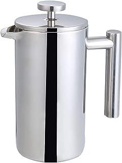De Franse pers Franse pers koffiezetapparaat dubbelwandige RVS Cafetiere geïsoleerde Koffie en thee faciliteiten Pot Het g...