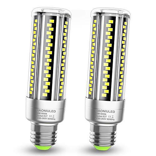 Ampoule Led E27 20W Lampes E27 Led Blanc Froid équivalent ampoules à incandescence 200W, 2500LM 6000K Ampoules maïs Ampoule Edison E27 culot à vis Ampoule Maison Led, Lot de 2