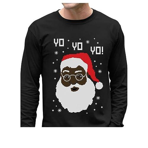 Black Santa Sweater Amazoncom