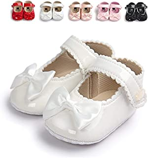 Infant Baby Girls Soft Sole Prewalker Crib Mary Jane Shoes Princess Light Shoes