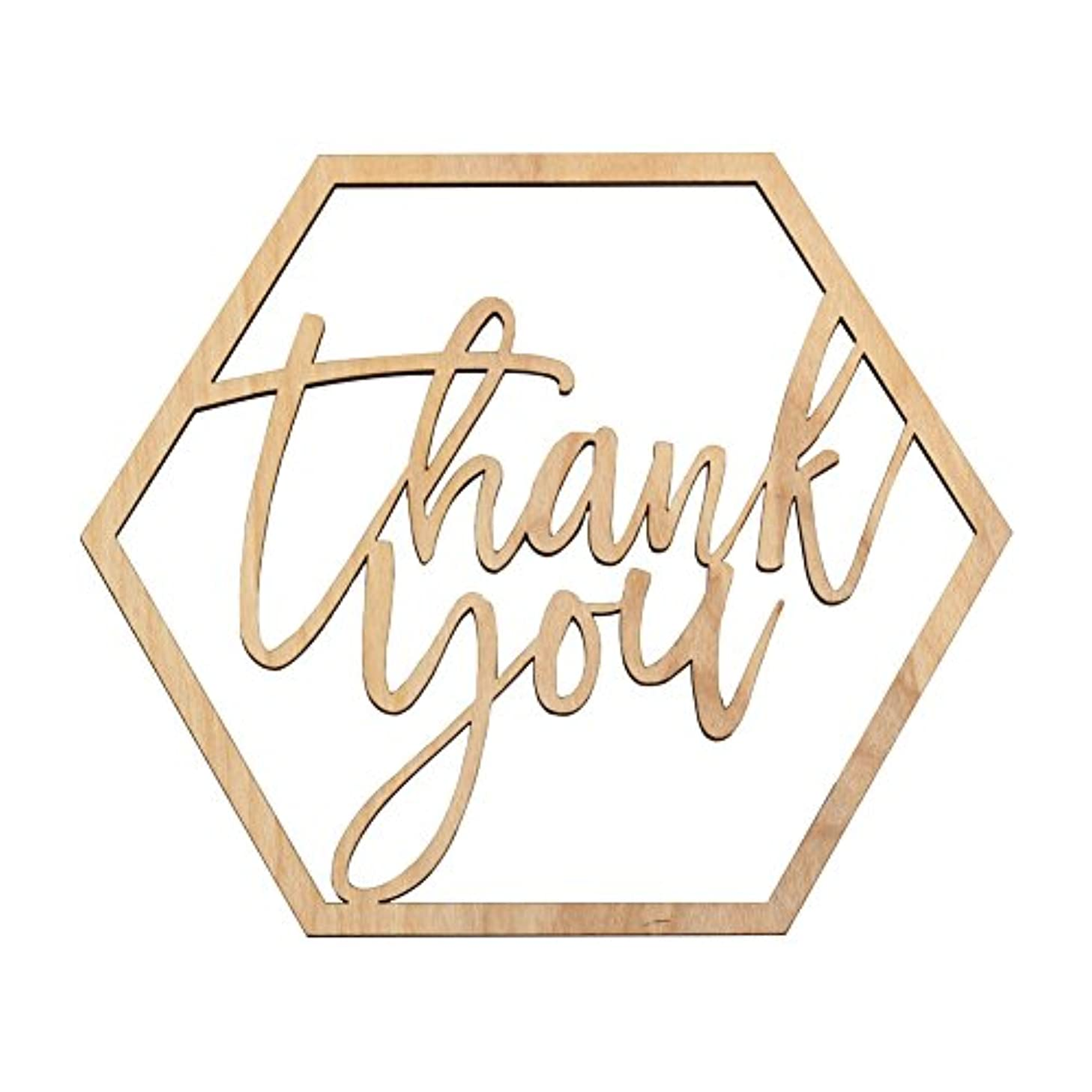 Koyal Wholesale Wood Thank You Sign, Wedding Display, Party Banner, Event Decorations for Wedding Engagement Bridal Shower Baby Shower Kids Birthday Party (Thank You)