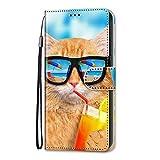 Nokia 2.3 Hülle Kompatible Mit Handyhülle Nokia 2.3 Wallet Case Cover PU Leder Tasche 3D Muster Flipcase Schutzhülle Handytasche Skin Ständer Klapphülle Schale Bumper Etui für Nokia 2.3 Coole Katze
