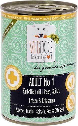 VEGDOG Vegetarisches Hunde Alleinfutter Adult No 1, 6er Pack (6 x 800 g)
