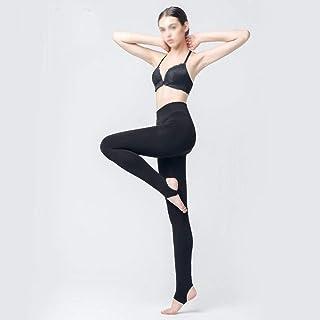 YIJUPIN 靴下女性の秋と冬の450 Gの暖かいプラス厚いビロードの足1つのズボンチップ綿外層カシミヤパンツ (Color : ブラック)
