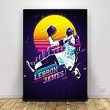 YuanMinglu Baloncesto Superestrella Lienzo Arte Cartel Impreso hogar decoración de la Pared Pintura sin Marco Pintura 30x40 cm