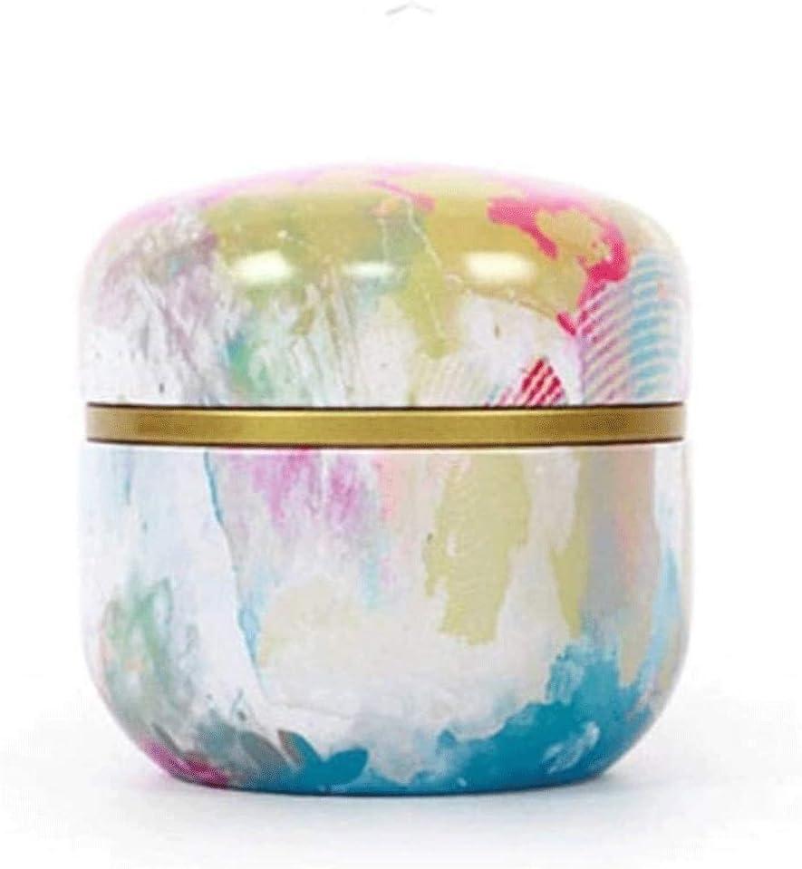 FMONH Storage Jars Under blast sales Multifunction Tea Round Tin Popular product Caddies Metal