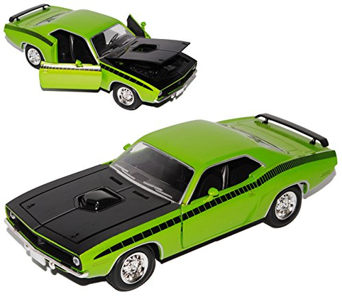 New Ray Plymouth Cuda Coupe Grün 1970 1/24 Modell Auto