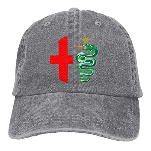 Hengteng Personalized Printing Breathable Hats Alfa Romeo Logo Interpretation New Baseball Cap Gray