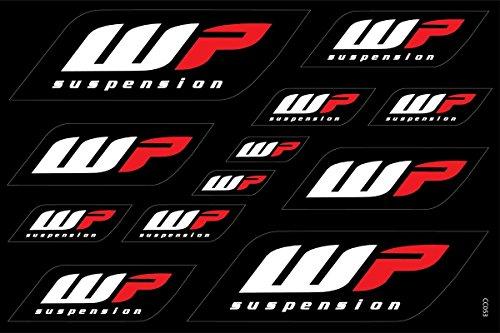 Motorrad und Bike Dekoration Aufkleber Aufkleber Promo-Set von Größen, Vinyl für Indoor/Outdoor-Anwendungen, einzeln vom Blatt entfernt WP Suspension