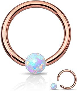 Amelia Fashion 16 Gauge Jeweled Ornate Heart Nose Hoop//Cartilage Ring Annealed 316L Surgical Steel