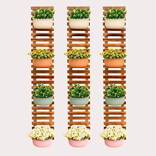 HSHAGHESGF MMJFKF Pflanze Blumenständer Wand Bonsai Display Regal Holz Klettergerüst Schwimmende Regale Pflanze Kleiderbügel (Size : 50x25cm)