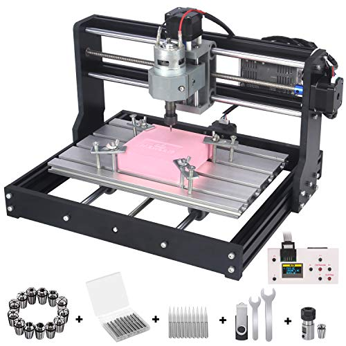 Upgraded Version 3018 Pro CNC Router Kit, Mcwdoit GRBL Control 3 Axis DIY CNC Engraving Machine, Wood Plastic Acrylic PCB...