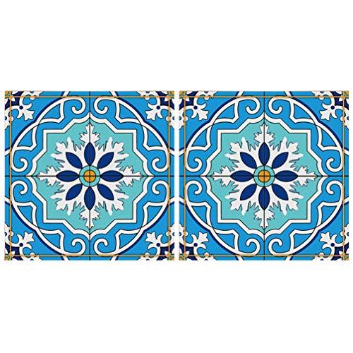 Adesivos de parede Cabilock 20 peças, adesivos de azulejo 3D para descascar e colar, à prova de desgaste, autoadesivo, antiderrapante, 12 x 12 cm, 8X8CM, Blue