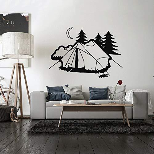 Hetingyue wanddecoratie, vinyl, wandlamp, slaapkamer, decoratie, tent, camping, vakantie, familie