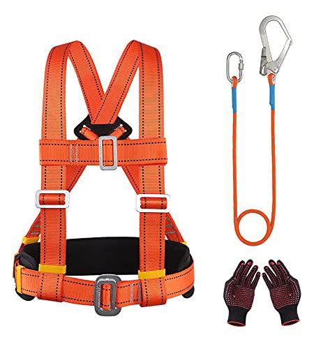 KLLKR Equipo de detención de caídas de Seguridad Dispositivo de detención de caídas Arnés de Cuerpo Entero Sistema de protección contra caídas Protección Personal(Size:3 m Rope)
