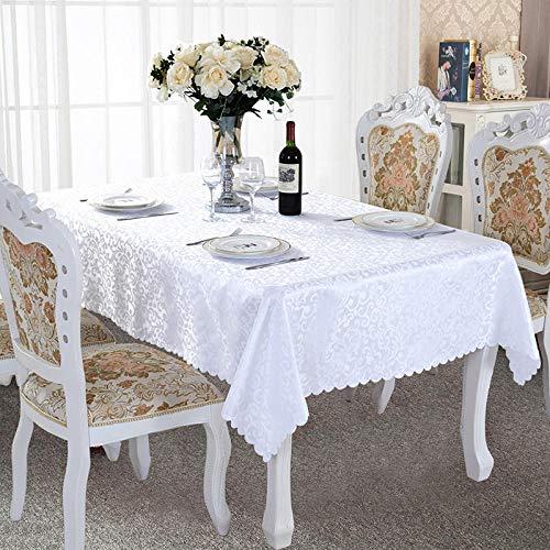 Onderhoudsarm, vuilafstotend, hoge temperatuurbestendigheid, keuze uit diverse kleuren en afmetingen, rechthoekige salontafel, eettafel, picknick met afdekdoek, zuiver wit, 160 x 200 cm