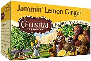 Celestial Seasonings, Tea Jammin Lemon Ginger, 20 Count