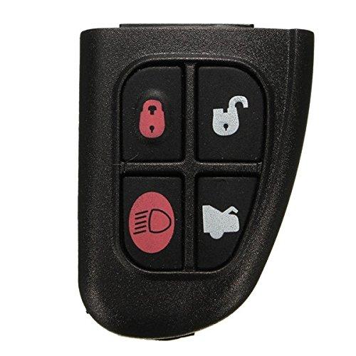 C-FUNN 433 4 Boutons Télécommande Fob avec Circuit Imprimé pour Jaguar X Type S Type Xj