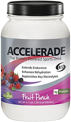PacificHealth Accelerade All Natural Sport Hydration Drink Mix Net Wt 4 11 lb 60 serving Fruit product image