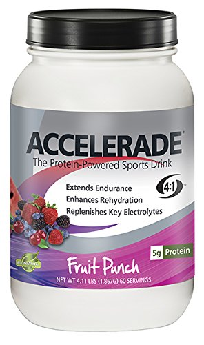 PacificHealth Accelerade, All Natural Sport Hydration Drink Mix, Net Wt. 4.11 lb., 60 serving (Fruit Punch)