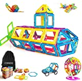 Condis 95 Piezas Bloques de Construcción Magnéticos para Niños, Juegos de Viaje Construcciones Magneticas Imanes Regalos Cumpleaños...