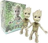 LINSAN 2Pcs Groot Tiny Cute Baby Tree Man Action...