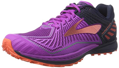 brooks Mazama, Zapatos para Correr para Mujer, Multicolor (Purplecactusflower/Peacoat/hotcoral), 38 EU