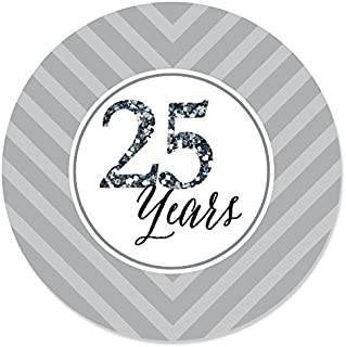 Big Dot of Happiness We Still Do - 25th Wedding Anniversary - Party Circle Sticker Labels - 24 Count