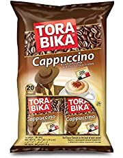 Tora Bika Cappuccino Instant Coffee, 20 Sachet x 25 gm (Pack of 1)