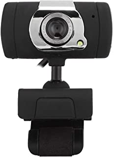 Eboxer Webcam 480P, Clip-on HD PC Camera, Built-in Microphone, 360° Rotating for Computer Laptop Desktop, Plug and Play for YouTube Video Broadcasting