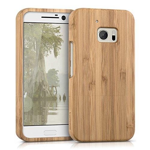 kwmobile HTC 10 Hülle - Handy Bambus Schutzhülle - Cover Case Handyhülle für HTC 10 - Hellbraun
