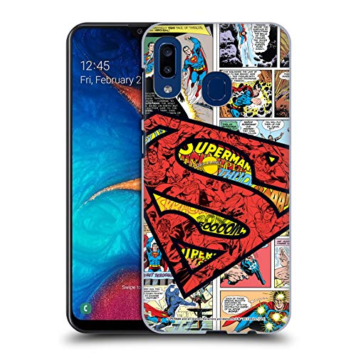 Head Case Designs Officially Licensed Superman DC Comics Oversized Logo Comicbook Art Hard Back Case Compatible with Samsung Galaxy A20 / A30 2019
