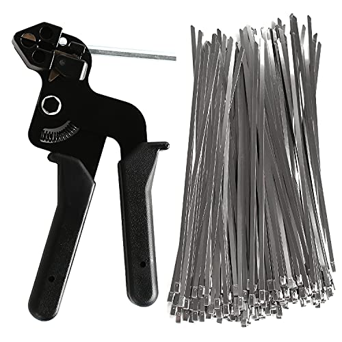 Juego de herramientas para bridas de acero inoxidable, con 200 bridas de...