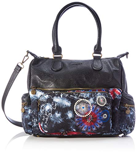 Desigual Accessories Fabric Shoulder Bag, Bolso bandolera. para Mujer, negro, U