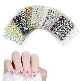 Haokey 50 Blätter 3D Design Nagel Sticker, 3D Nail Art Sticker Aufkleber Selbstklebende Aufkleber Maniküre Deko für DIY Nail Art Dekoration Phone Case Karten DekoDekoration