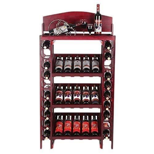 Nordic wijn van massief houten wijnrek, stabiele structuur met grote inhoud en design.