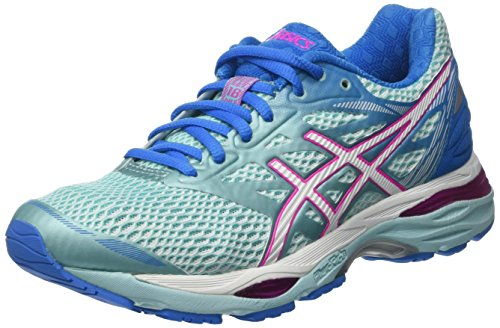 ASICS T6C8N6701, Zapatillas de Running para Mujer, Azul (Aqua Splash / White / Pink Glow), 37.5 EU