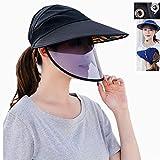 Huiit Unisex Sombrero Gorra De Protección Protectora Sombrero Protección Contra La Gripe Multifuncional Extraíble Sombreros