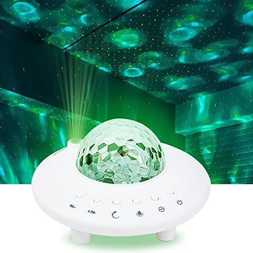 Proiettore di luce a stella per camera da letto con altoparlante musicale Bluetooth, proiettore USB Ocean Wave con nebulosa LED per camera da letto dei bambini, sala giochi Home Theatre verde