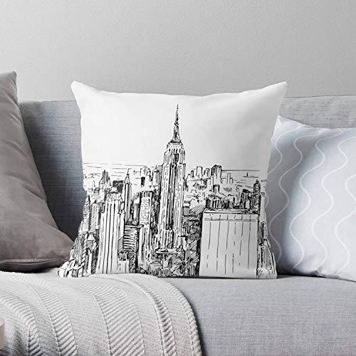 Lplpol, federa per cuscino New York, New York, New York, New York DéCor, New York, regalo di New York, federe decorative per cuscini da divano, 40,6 x 40,6 cm