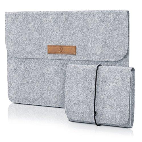 CSL - 13,3 Zoll Notebooktasche Notebookhülle - Laptop-Tasche - Schutztasche - Sleeve - inkl. Mini-Tasche und Zubehör-Fächer innen, außen - für Subnotebook Netbook Ultrabook bis 13,3 Zoll