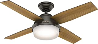 Hunter Dempsey Indoor Ceiling Fan with LED Light and...