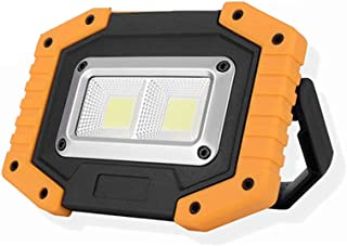 Beauenty Portable LED Work Light Rechargeable, COB 30W Waterproof Floodlights with USB Outdoor Spotlight for Car Repairin...