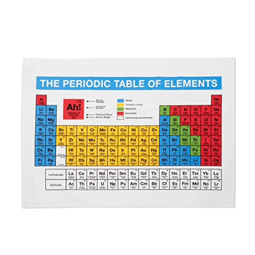 getDigital Paño de cocina periódica con tabla de elementos – Toalla de cocina para fanáticos de la química – 100% algodón
